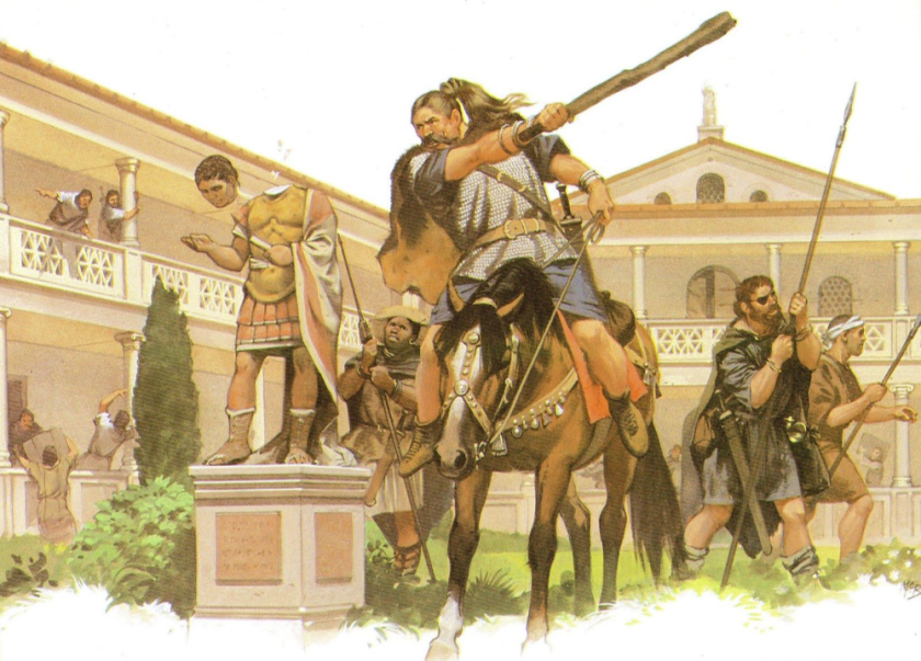 digital history of the barbarians and Rome