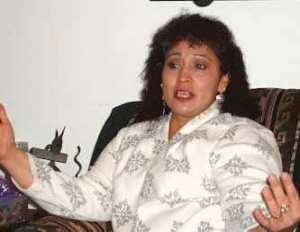 LaDonna Brave Bull Allard telling a story