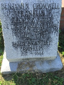 Grave of Judge Franklin