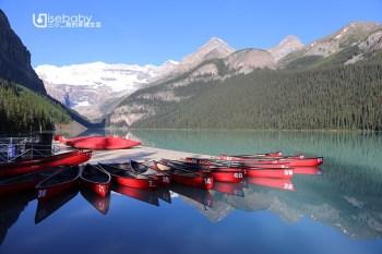 加拿大 Lake Louise露易絲湖。洛磯山脈的藍寶石