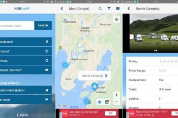 挪威露營APP推薦。營地指南NorCamp