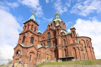 芬蘭   赫爾辛基。北歐最大的俄羅斯東正教堂.烏斯佩斯基教堂