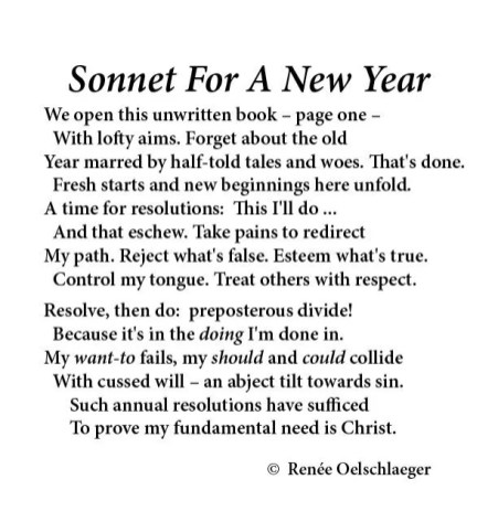 New Year, resolutions, sonnet, poetry, poem