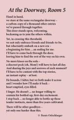At-The-Doorway-Room-5, kindergarten, goodbyes, going to school, growing up, new friends, light verse, poetry, poem