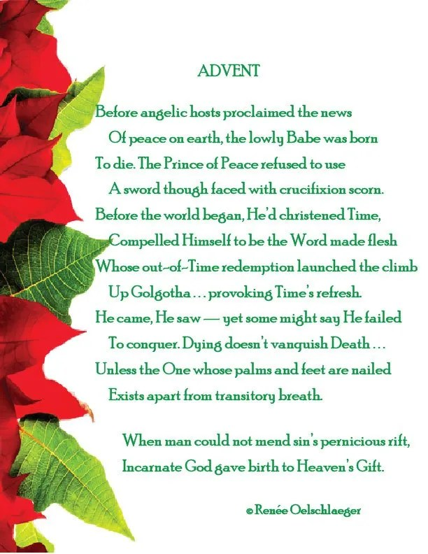 advent, christmas, redemption, Jesus, sonnet, poetry, poem