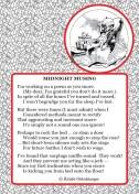 Midnite-Musing, snore, snoring, solutions for snoring, earplugs, bedtime, light verse, poetry, poem