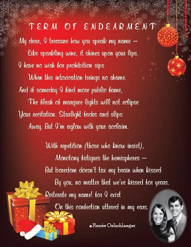 Term-Of-Endearment, love poem, love, anniversary, marriage, sonnet, poetry, poem