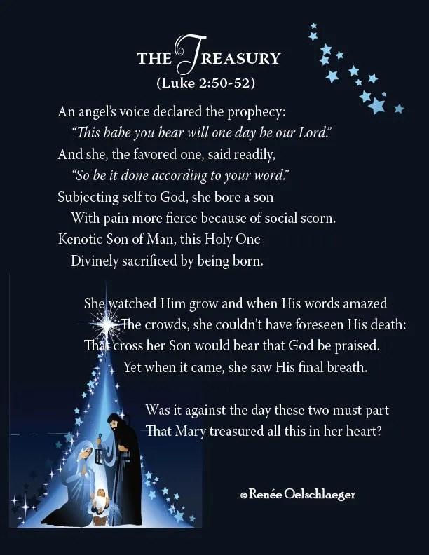 The-Treasury, Christmas child, Jesus, birth of Christ, Joseph, Mary, Luke 2, sonnet, poetry, poem