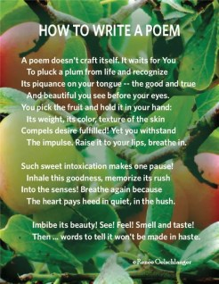 How-To-Write-A-Poem, plums, succulence, truth, beauty, goodness, sonnet, poetry, poem