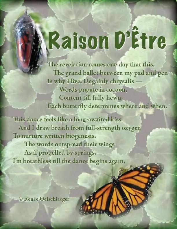 Raison-D-Etre, writing, grand ballet, versifying, writing poetry, poetry, light verse, poem