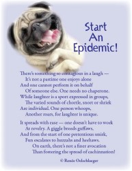 Start-An-Epidemic, laughter, cacchination, sonnet, poetry, poem, light verse