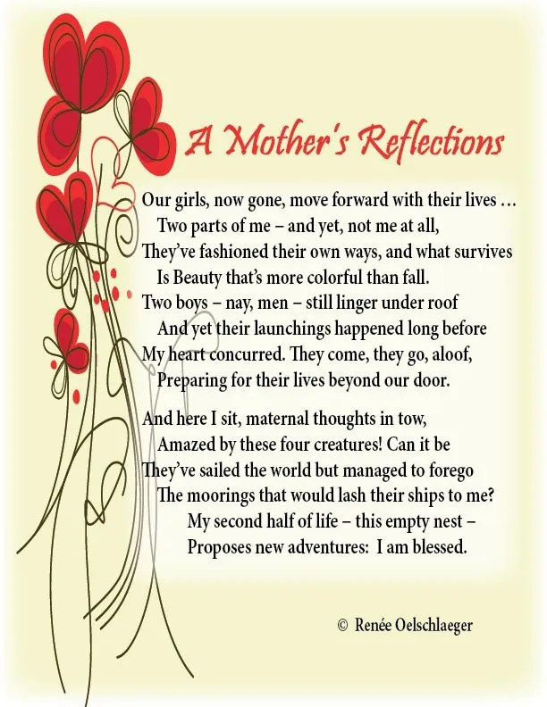 A-Mothers-Reflections, mother, daughter, beauty, son, sonnet, poem, poetry