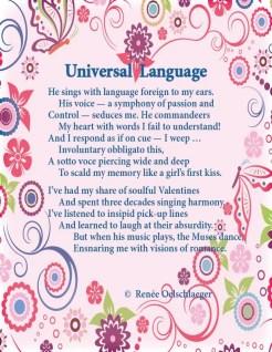 Universal-Language, love poem, valentine, first kiss, romance, sonnet, poetry, poem