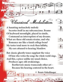 Classical-Modulation, classical music, music, moonlight sonata, Beethoven, Manilow, sonnet, poetry, poem
