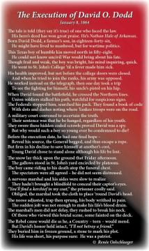 Execution-of-David-O-Dodd, history, Arkansas, Civil War, Nathan Hale of Arkansas, poetry, poem