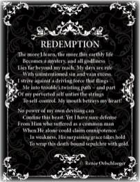 Redemption, sin, regret, trouble, grace of God, sonnet, poetry, poem