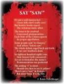 Say-Saw, Arkansas, state law, light verse, poetry, poem