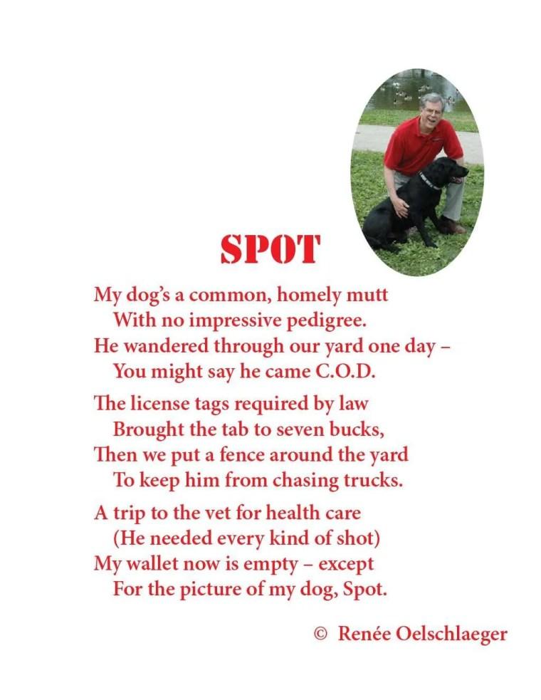 Spot, mutt, dog, pedigree, light verse, poetry, poem