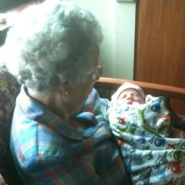 Great Grandmother with great grandson