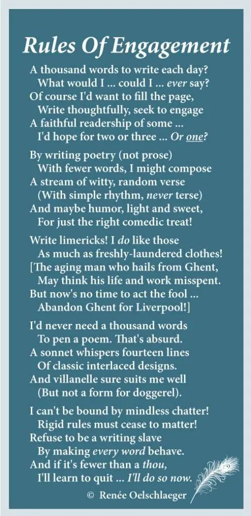 writing, a thousand words a day, sonnets, poetry, poem, prose, how to write