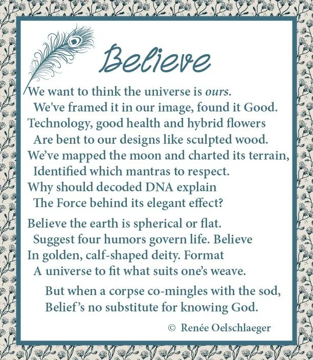 universe, technology, DNA, believe, belief, mantras, deity, sonnet, poetry, poem