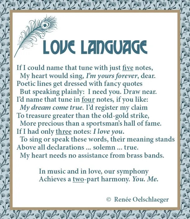 Love-Language, name that tune, love, symphony of love, sonnet, poetry, poem