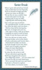 Senior-Break, growing old, aging, light verse, poetry, poem