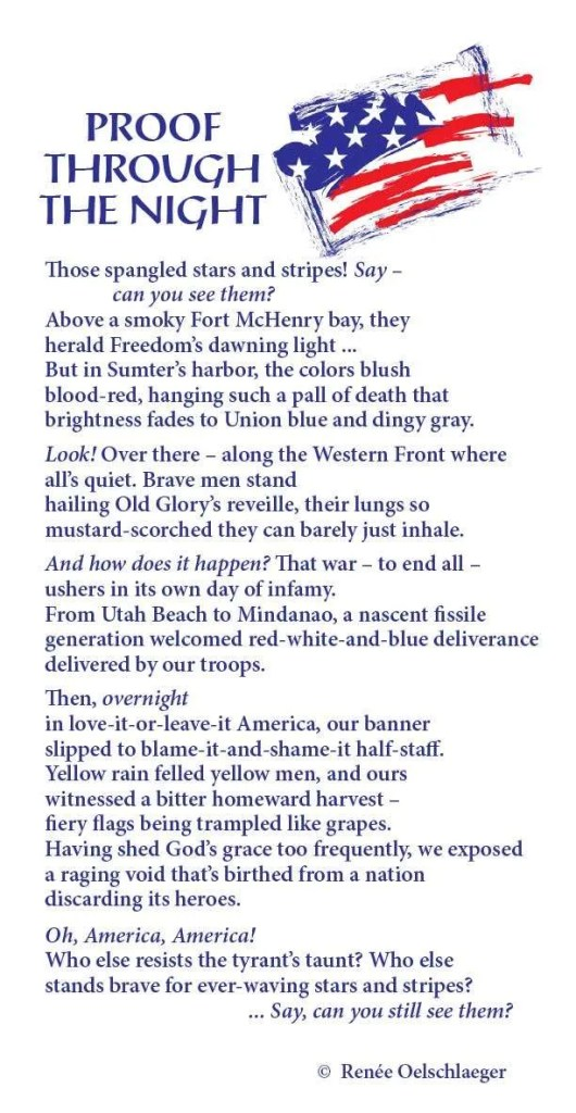 star spangled banner, liberty, stars and stripes, Fort McHenry, old glory, Western Front, Utah Beach, Mindanao, free verse, poetry, poem