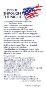 Proof-Through-The-Night, star spangled banner, liberty, freedom, Fort McHenry, Western Front, Utah Beach, Mindanao, red, white and blue, poetry, poem