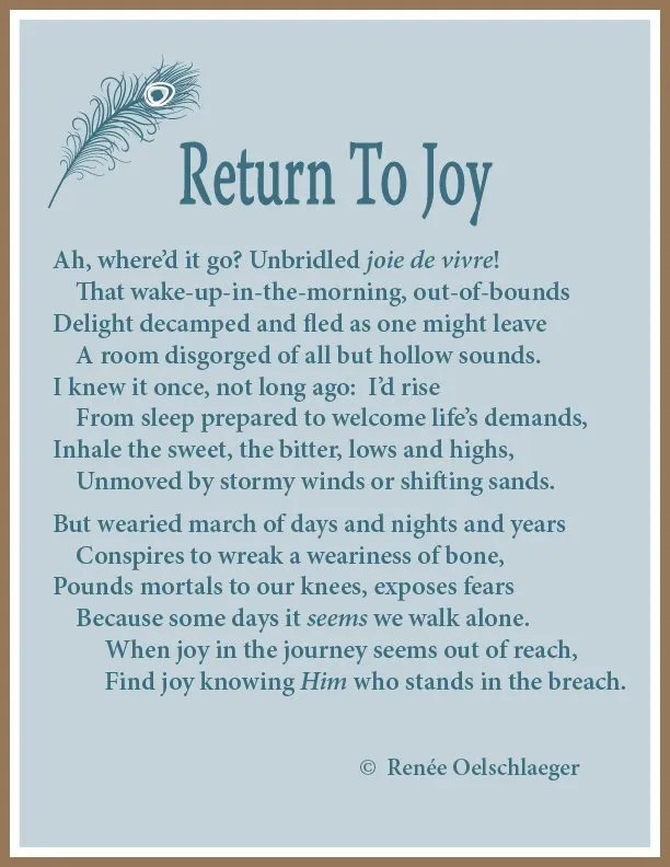 Return To Joy, weariness, sonnet, poetry, poem,