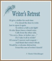 Writer's Retreat, writing, poetry, verse, poem