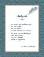 Abigail, Jaleen, poetry, poem