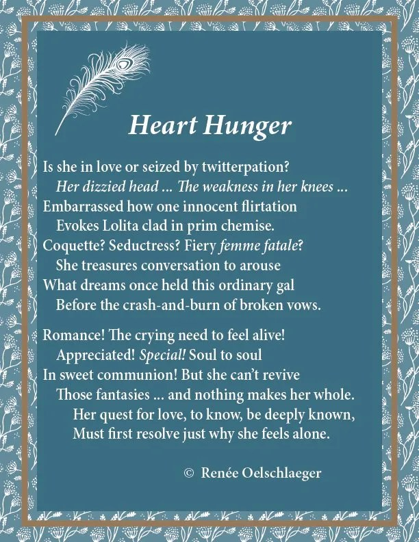 Heart Hunger, sonnet, poem, poetry, divorce, longing, romance