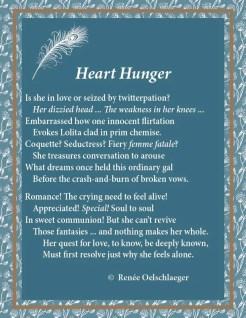 Heart Hunger, sonnet, poem, poetry, divorce, longing, romance