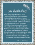 Give Thanks Always, sonnet, poem, poetry, Thanksgiving, blessings