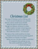Christmas List, sonnet, poem, poetry