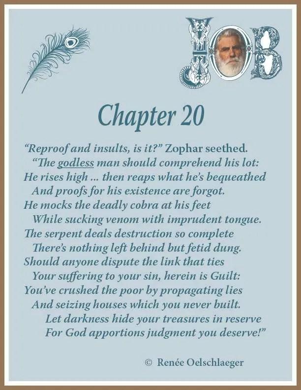 Job Chapter 20, sonnet, poem, poetry, Zophar
