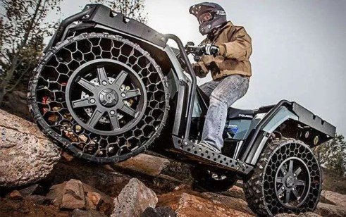 Polaris Sportsman WV850 H.O - The All Terrain Airless Tires ATV