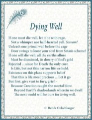 Dying Well, sonnet, poem, poetry