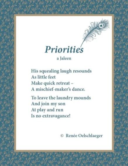 Priorities, a Jaleen