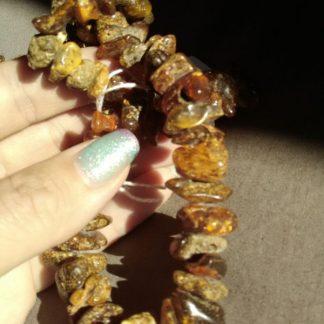collana chips ambra naturale