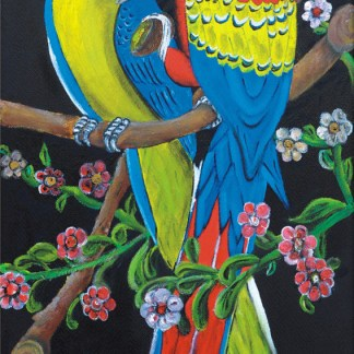 quadro pappagalli argentini