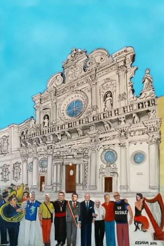 quadro basilica santa croce lecce salento