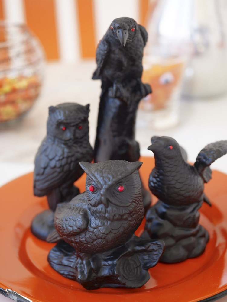 Spray Painted Sinister Halloween Ceramics