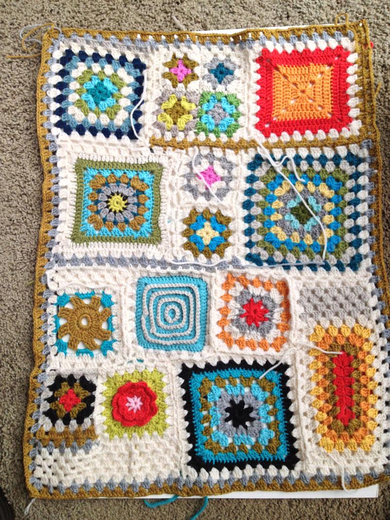 Granny Square Sampler 18