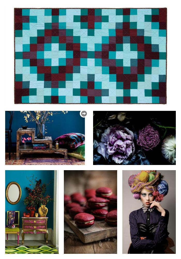 Sunshine Medallion Jewel Tone Quilt Collage by Wise Craft Handmade