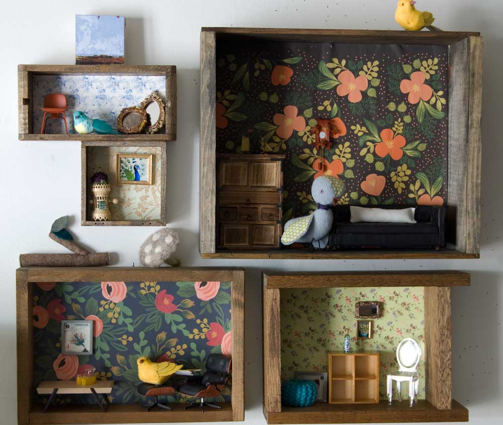 Upcycled Curio Boxes by Wise Craft Handmade