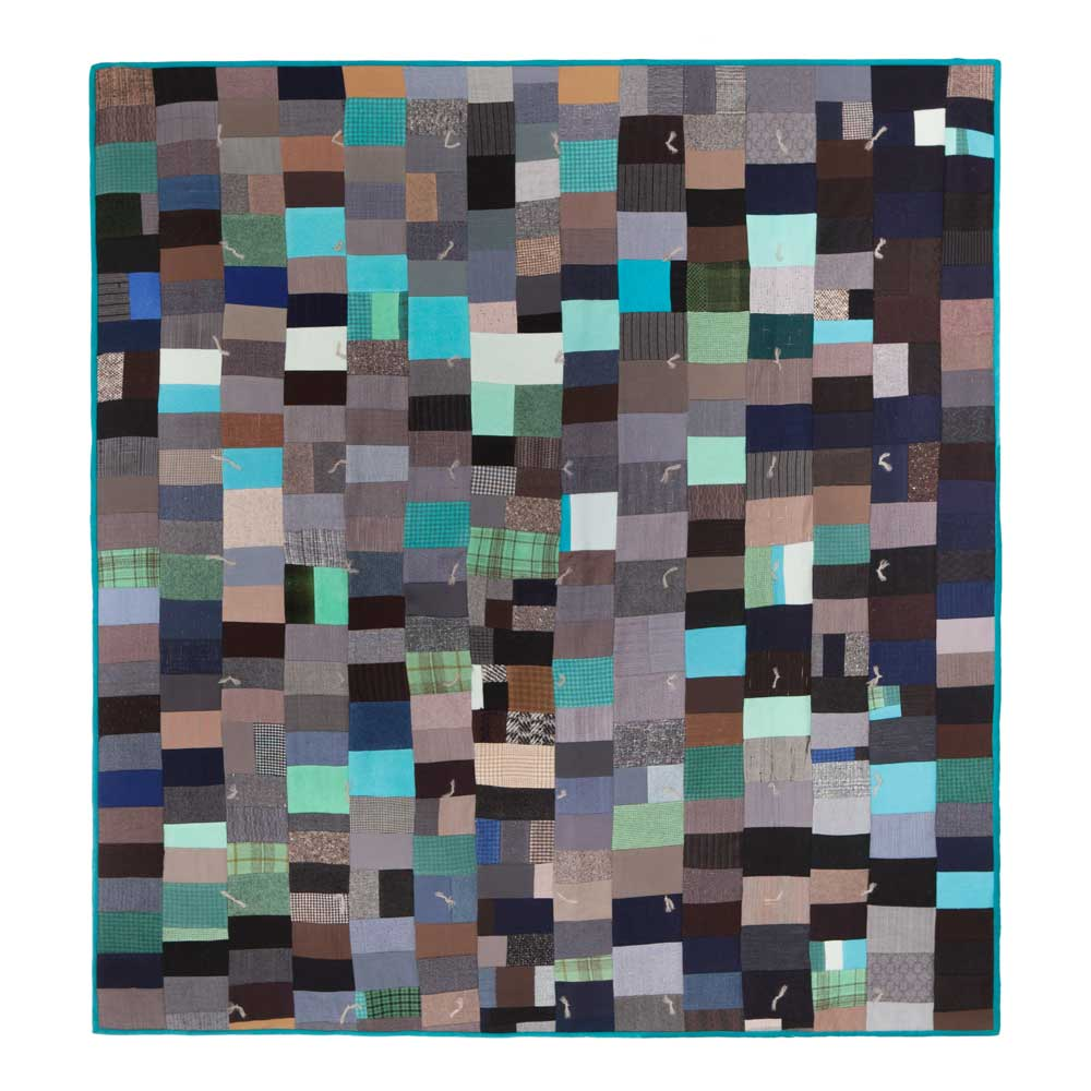 Turquoise Trail tied Quilt