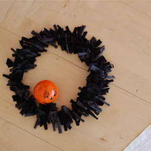 Halloween T-shirt Wreath