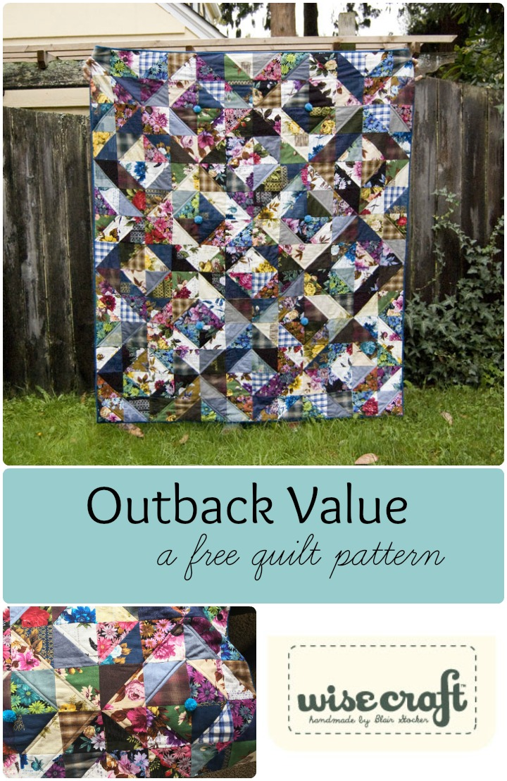 Free Quilt Pattern Outback Value by Wise Craft Handmade